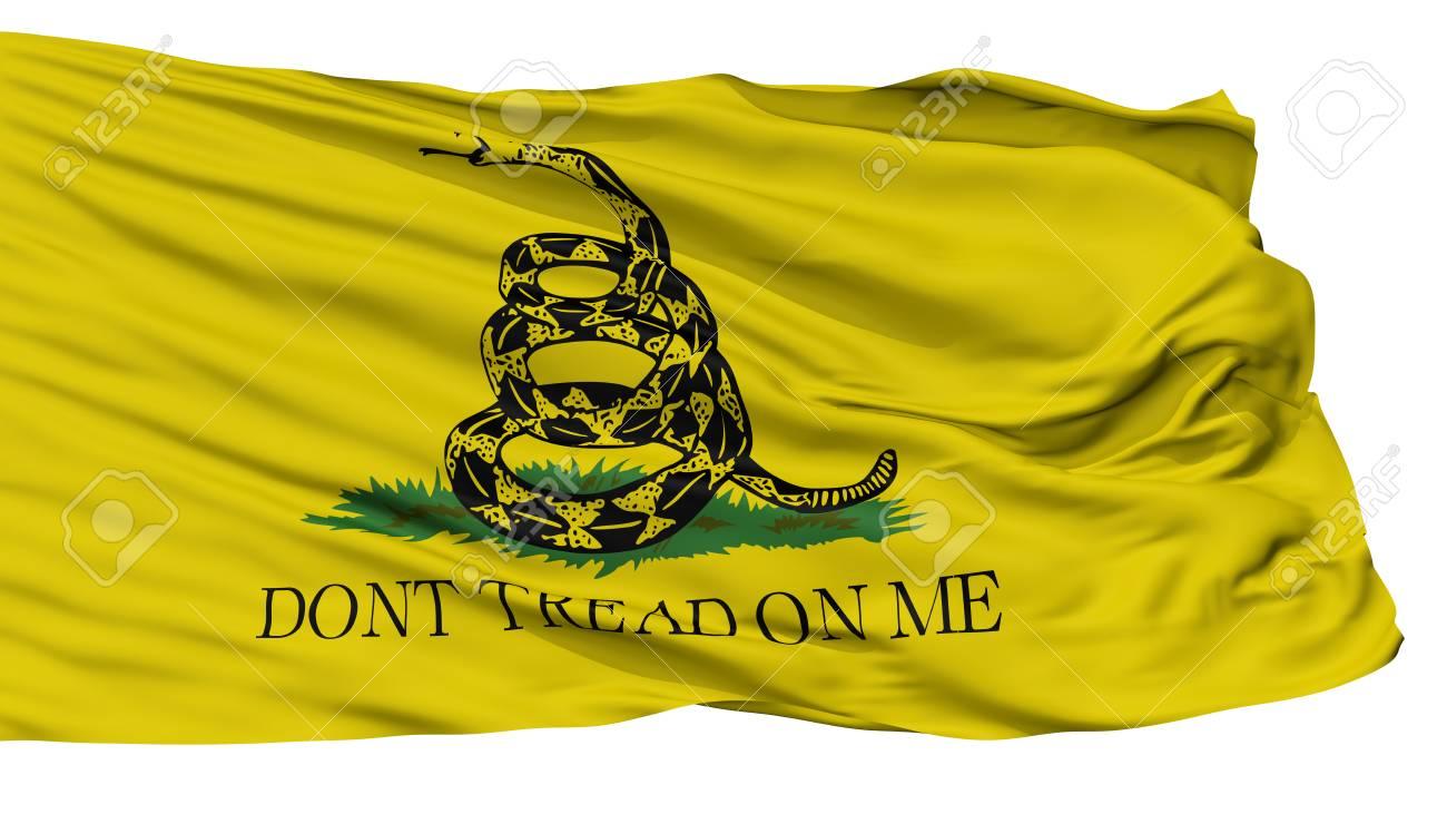 gadsden flag isolated on