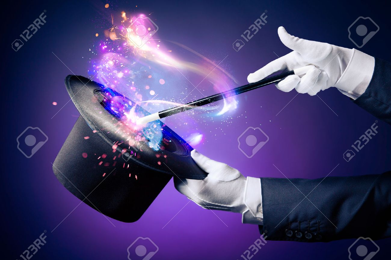 magician hand with magic