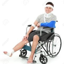 Wheelchair Man How Wide Is A Wheel Chair Portrait Of Injured Young In Stock Photo Picture And 36078758