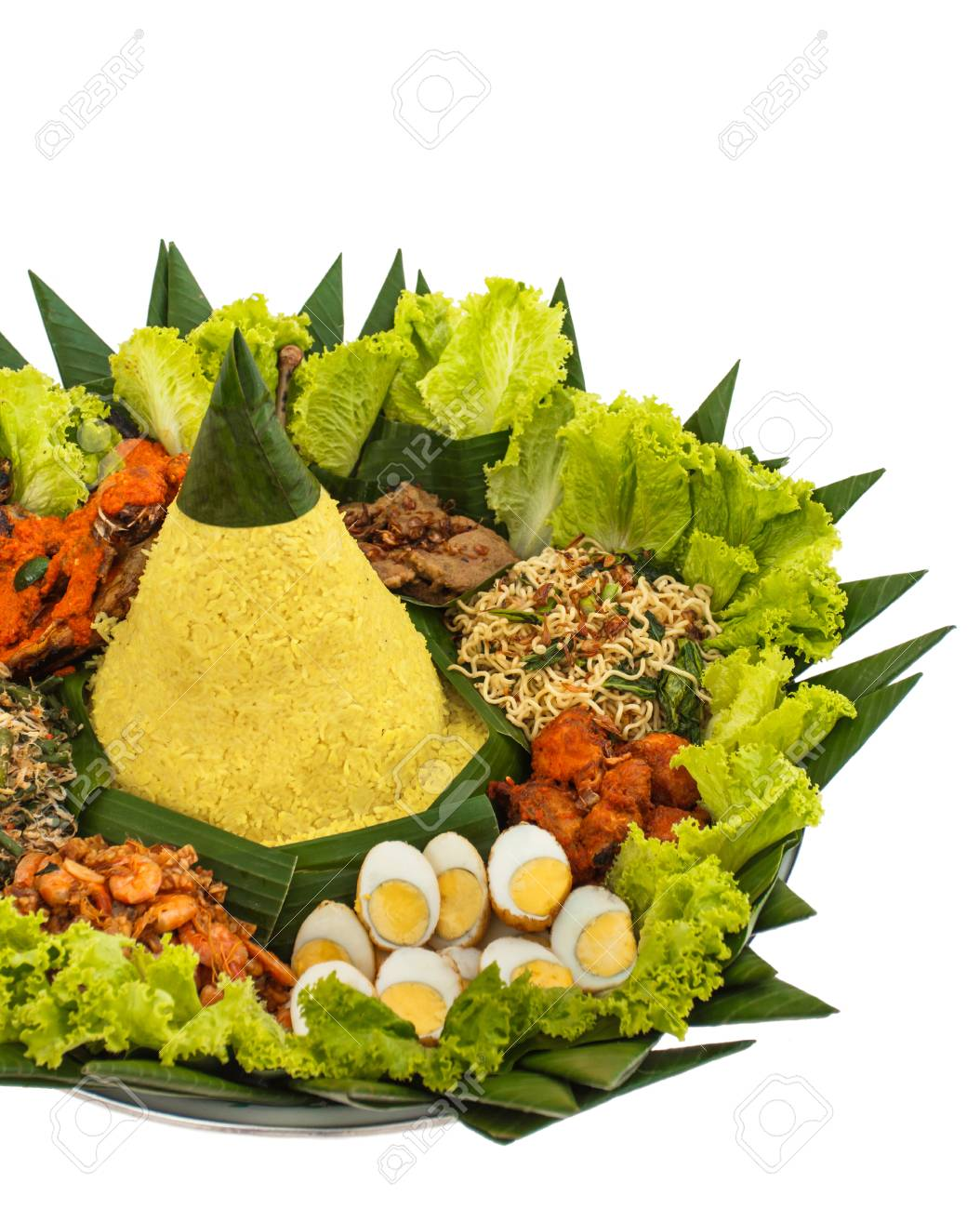 Nasi Tumpeng Vector : tumpeng, vector, Portrait, Indonesian, Tumpeng, Celebration, Stock, Photo,, Picture, Royalty, Image., Image, 93305204.