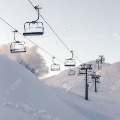 Buy Ski Lift Chair Rocking With Cradle Chairs And Blue Sky Near Vogel Center Slovenia Stock Photo 94120012