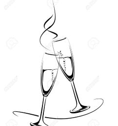 illustration of clinking champagne glasses for a festive occasion illustration [ 1062 x 1300 Pixel ]
