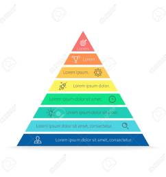 pyramid for infographics with numbers chart diagram with 8 steps options vector [ 1300 x 1300 Pixel ]