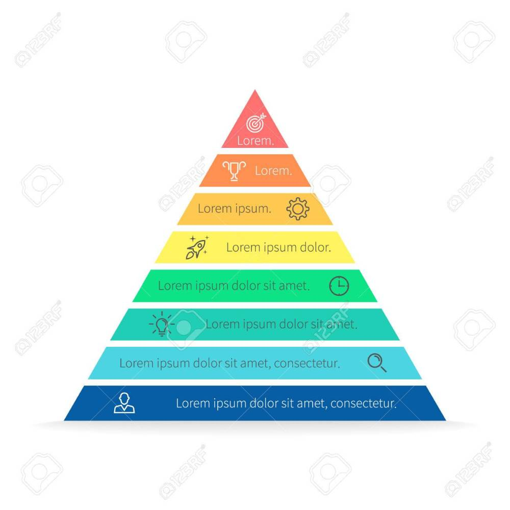 medium resolution of pyramid for infographics with numbers chart diagram with 8 steps options vector