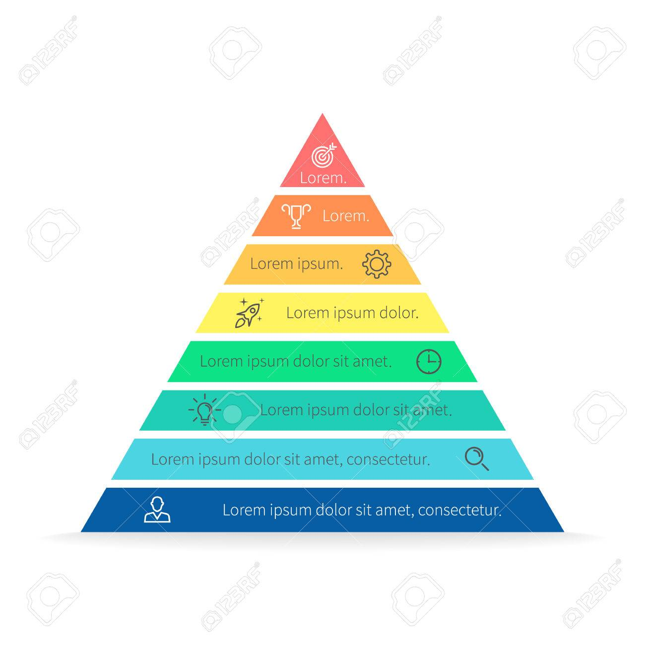 hight resolution of pyramid for infographics with numbers chart diagram with 8 steps options vector
