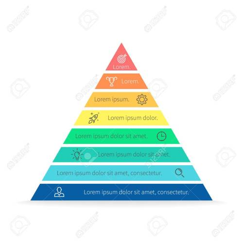 small resolution of pyramid for infographics with numbers chart diagram with 8 steps options vector