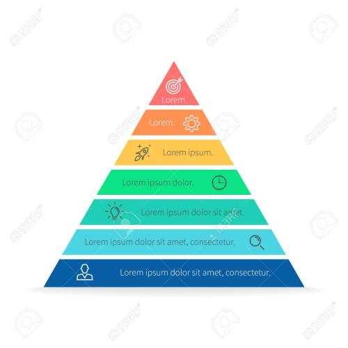 small resolution of pyramid for infographics with numbers chart diagram with 7 steps options vector