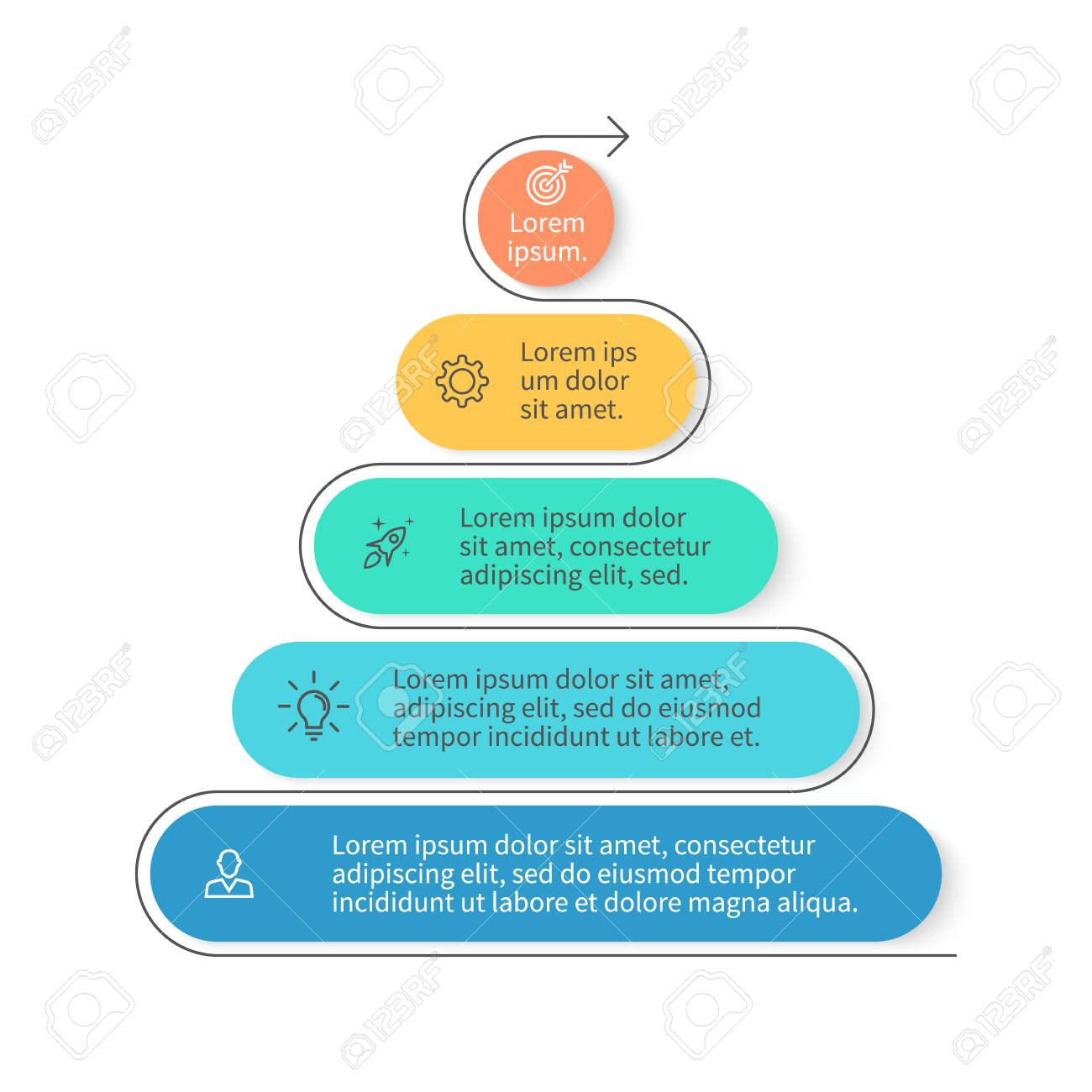 hight resolution of pyramid for infographics chart diagram with 5 steps options vector design element