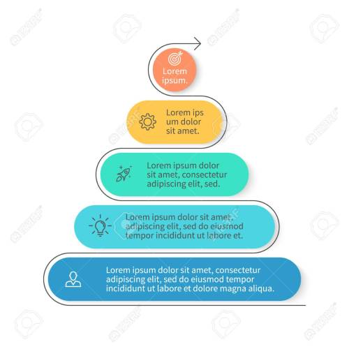 small resolution of pyramid for infographics chart diagram with 5 steps options vector design element