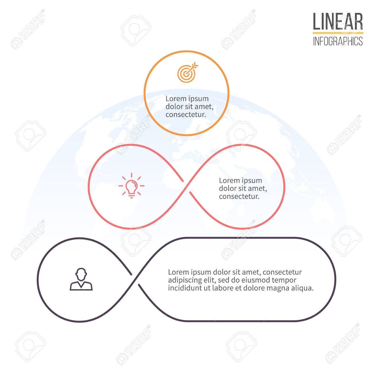 hight resolution of pyramid for infographics business diagram chart with 3 steps options levels