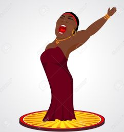 cartoon illustration of black jazz opera singer stock vector 41134701 [ 1300 x 1295 Pixel ]