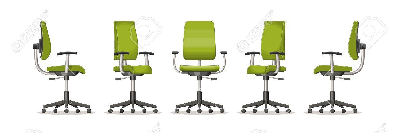 office chair illustration covers 4 you of an in different perspectives royalty stock vector 60556459