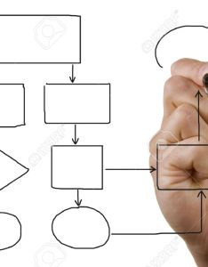 Businessmans hand drawing an empty flow chart stock photo also picture rh rf