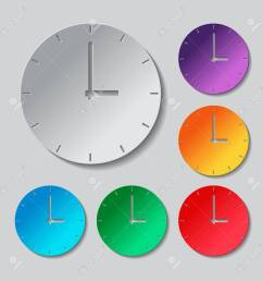 simple clock icon paper style colored set stock vector 59795141 [ 1300 x 1300 Pixel ]