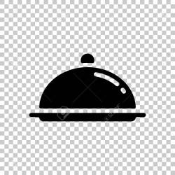 Restaurant Cloche Or Tray Restaurant Icon On Transparent Background Royalty Free Cliparts Vectors And Stock Illustration Image 108562538