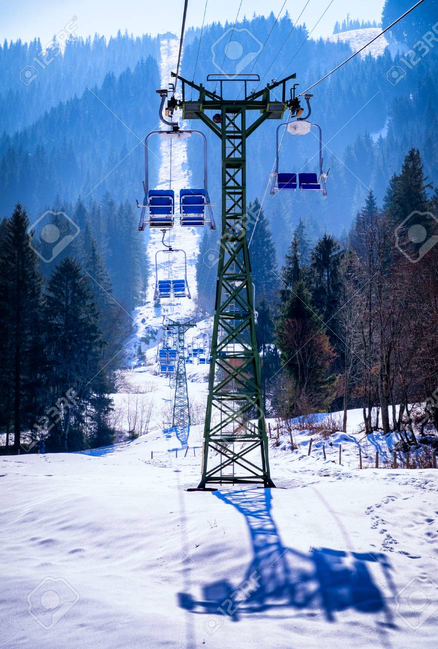 buy ski lift chair small scale upholstered dining chairs mountains with modern stock photo picture and 56023791