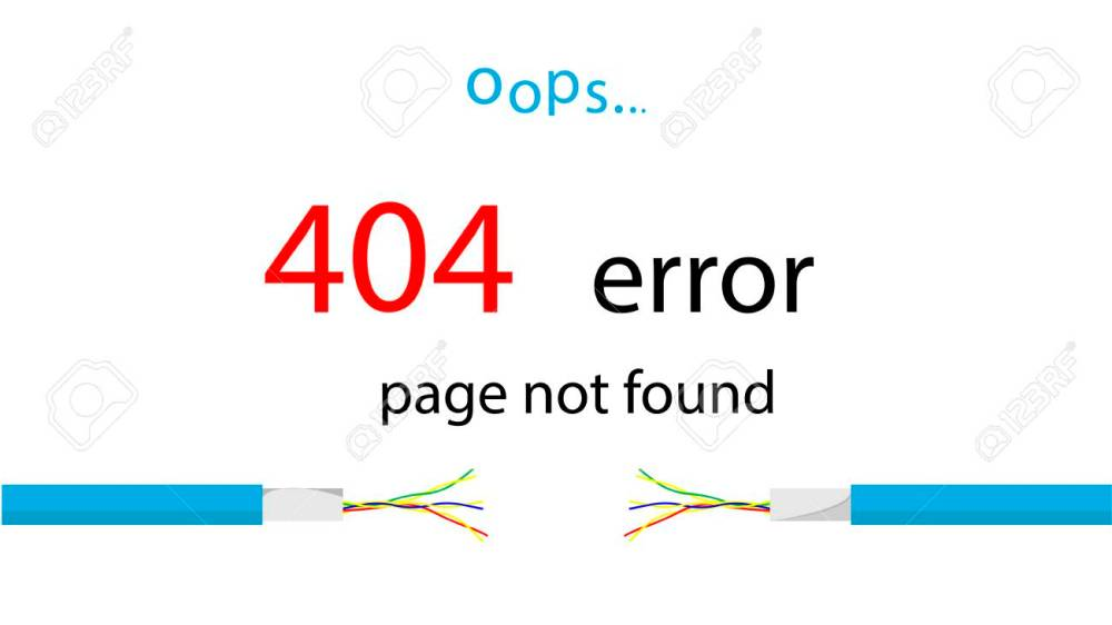 medium resolution of service message on the site error 404 page not found illustration of a