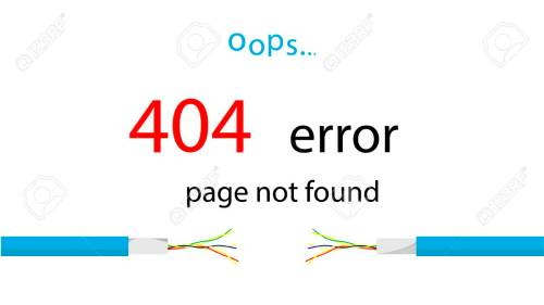 small resolution of service message on the site error 404 page not found illustration of a