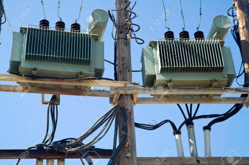 small resolution of old electric transformers for energy transportation in the city stock photo 93321281