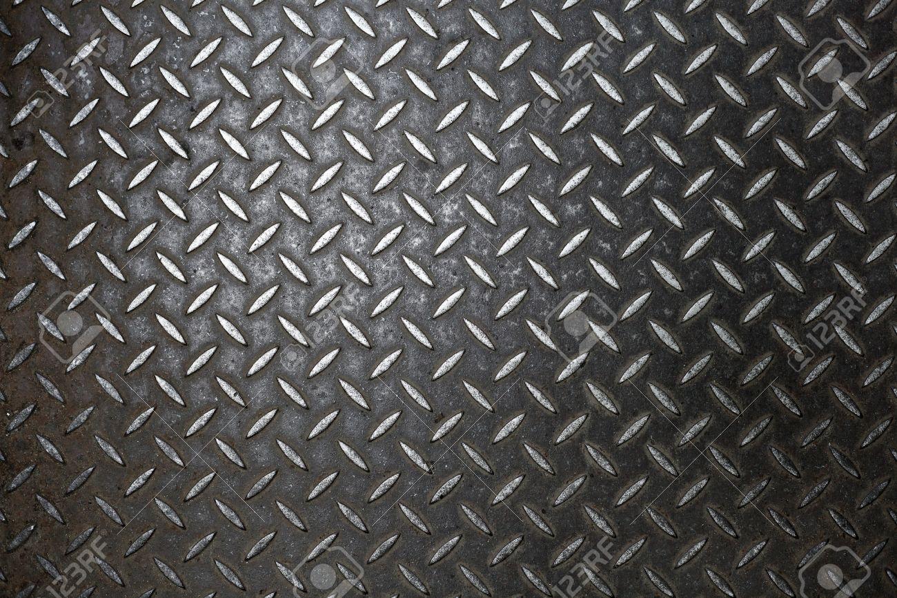 rusty steel diamond plate