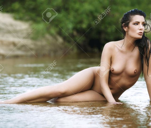 Beautiful Naked Woman In Water Stock Photo 19857480