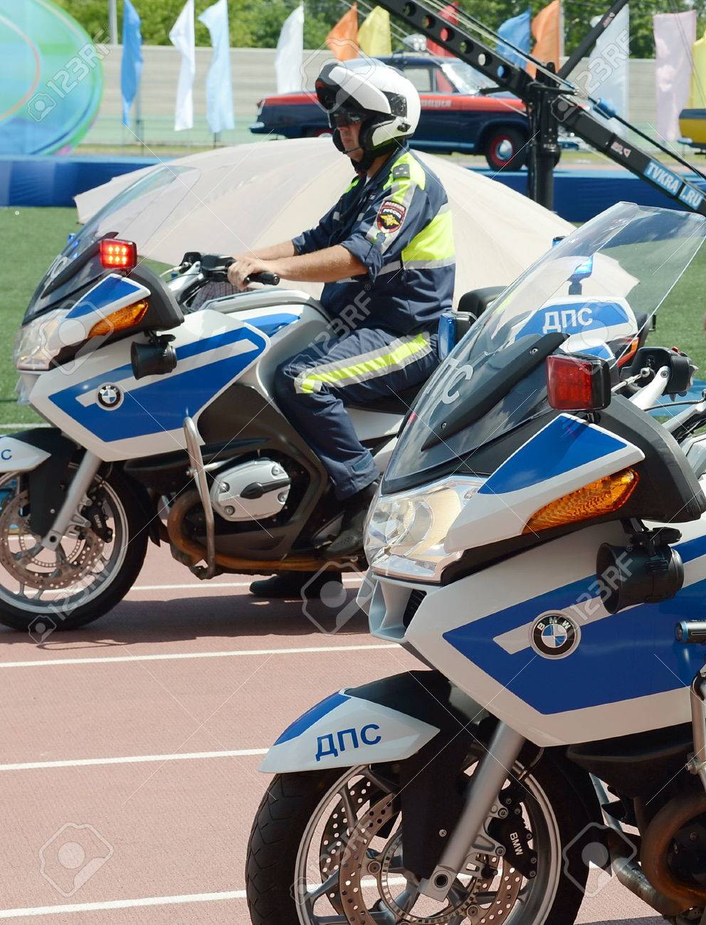 medium resolution of inspectors of traffic police on bmw motorcycles stock photo 75291855
