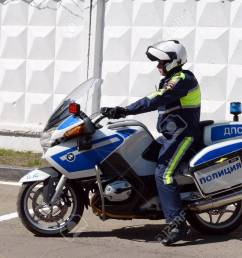 stock photo the inspector of traffic police motorcycle bmw leaves to patrol the roads  [ 1300 x 952 Pixel ]