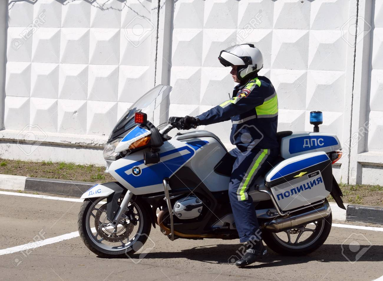 hight resolution of stock photo the inspector of traffic police motorcycle bmw leaves to patrol the roads