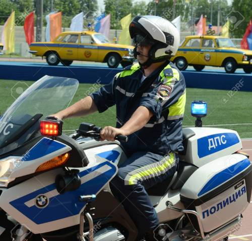 small resolution of stock photo the inspector of traffic police motorcycle bmw leaves to patrol the roads