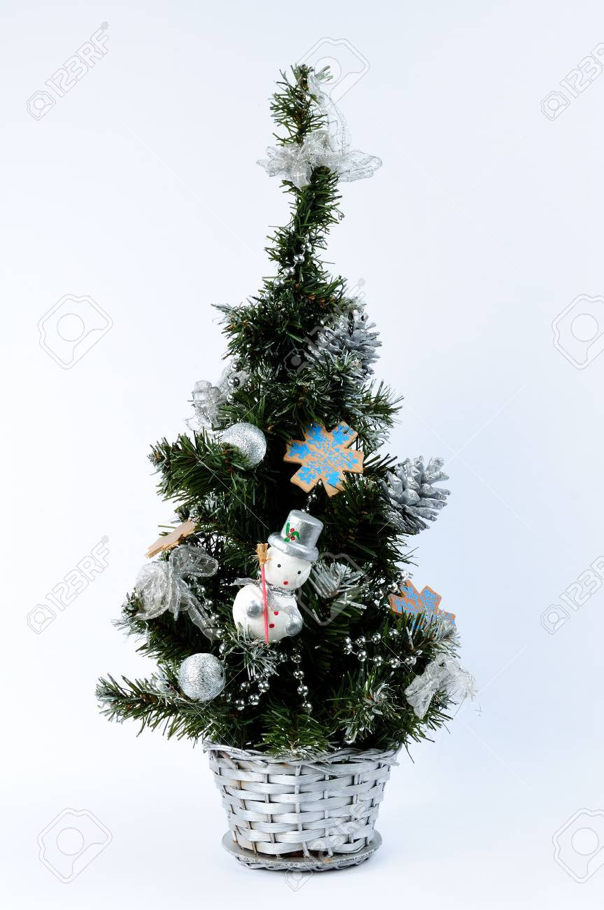 Christmas Tree Decorations And Nativity Christian Catholic Isolated Stock Photo Picture And Royalty Free Image Image 35555057
