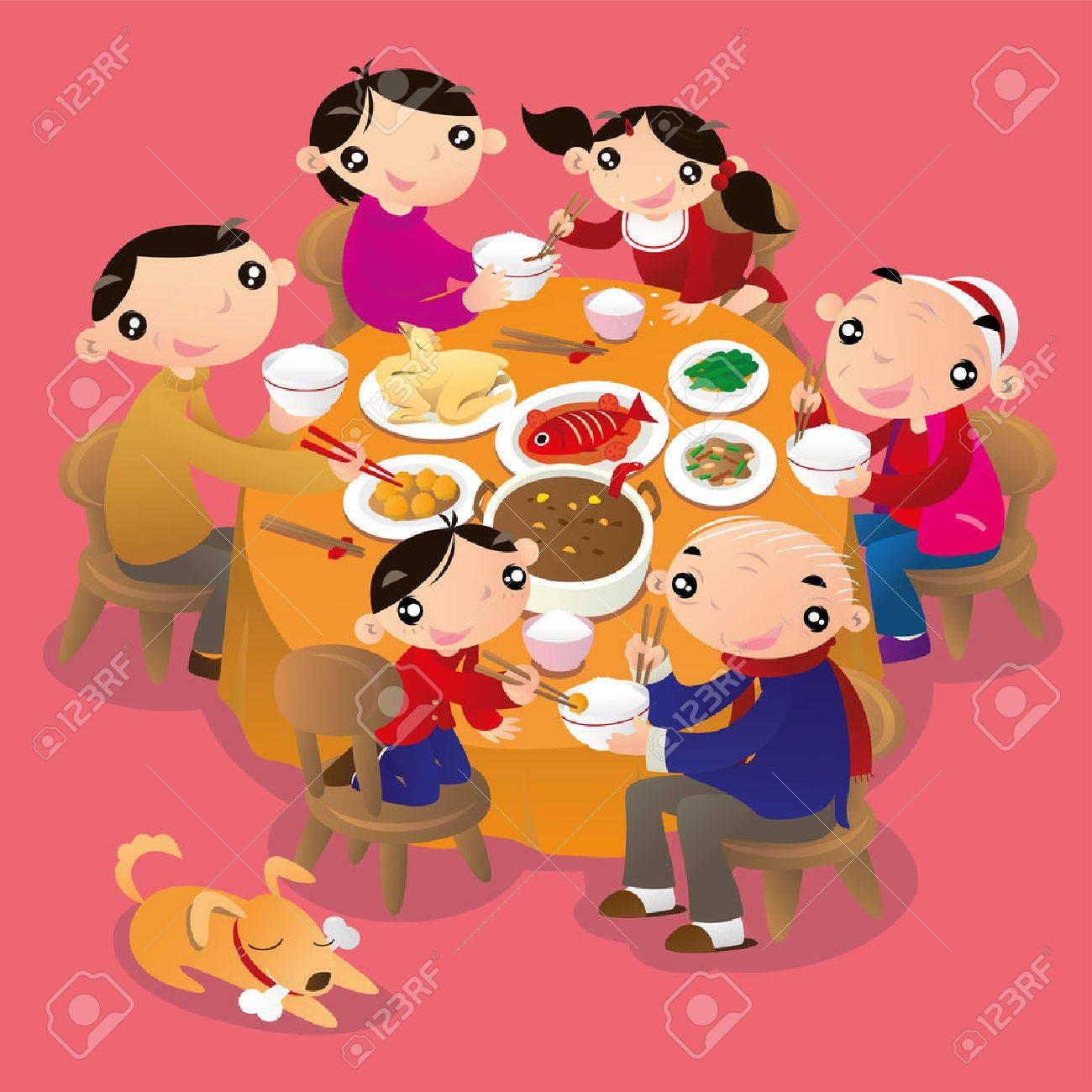 hight resolution of a chinese family reunion dinner it is a traditional practice of chinese people to get