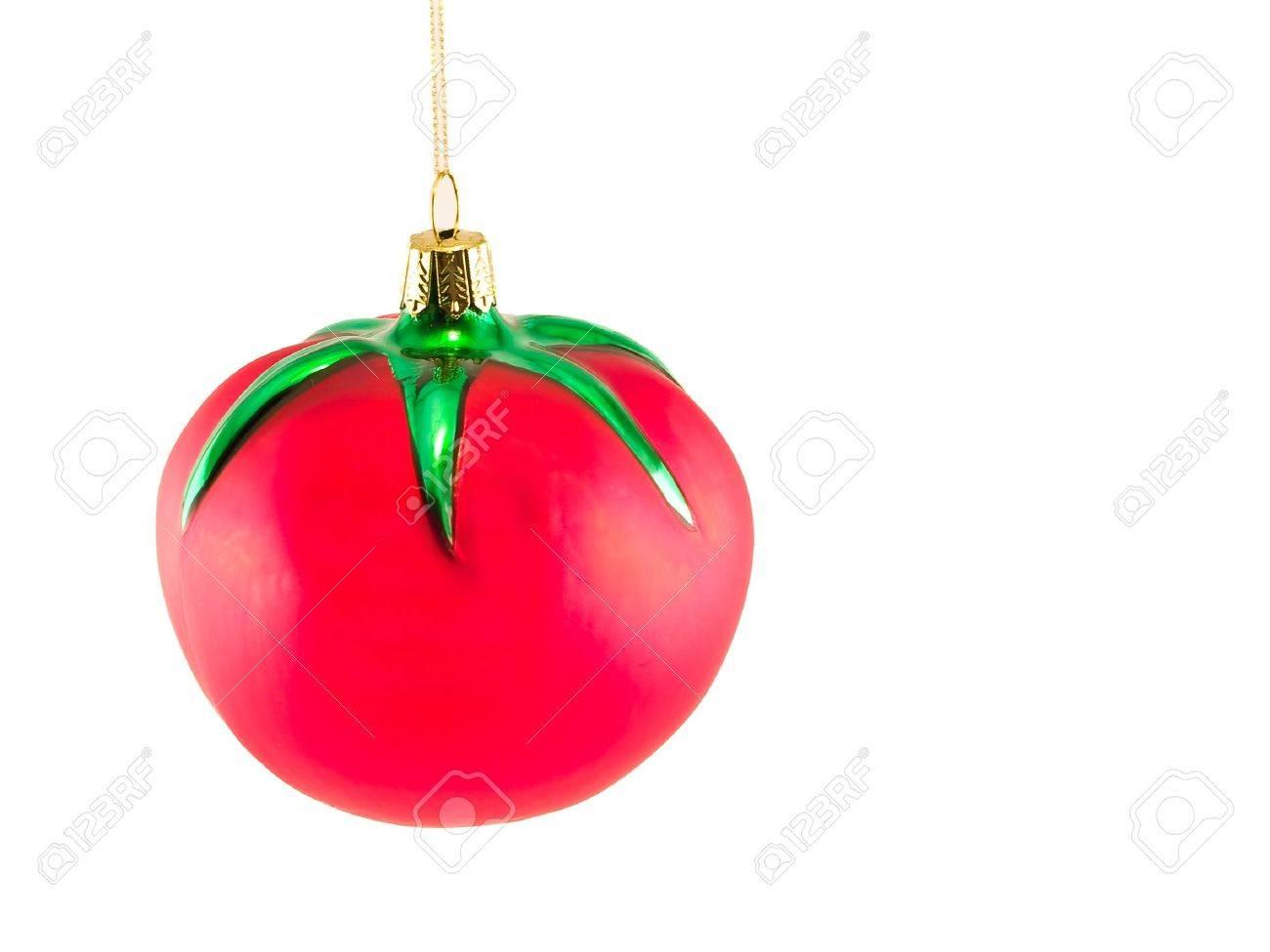 a glass christmas ornament