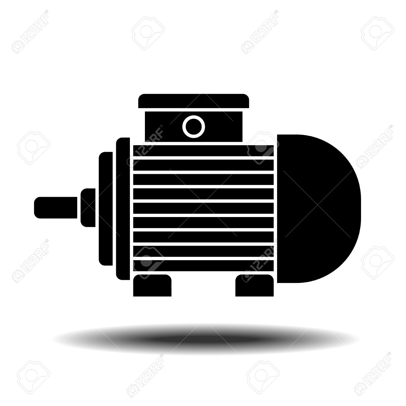 electric motor icon with