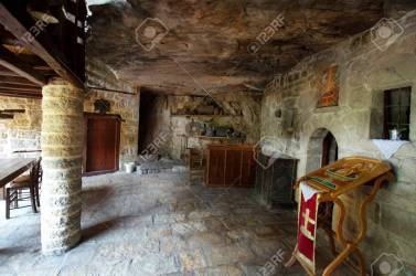 Greece Epirus Living Room In Public Medieval Monastery Kipinas Stock Photo Picture And Royalty Free Image Image 128537136