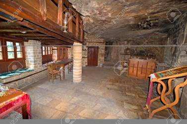 Greece Epirus Living Room In Public Medieval Monastery Kipinas Stock Photo Picture And Royalty Free Image Image 128537141
