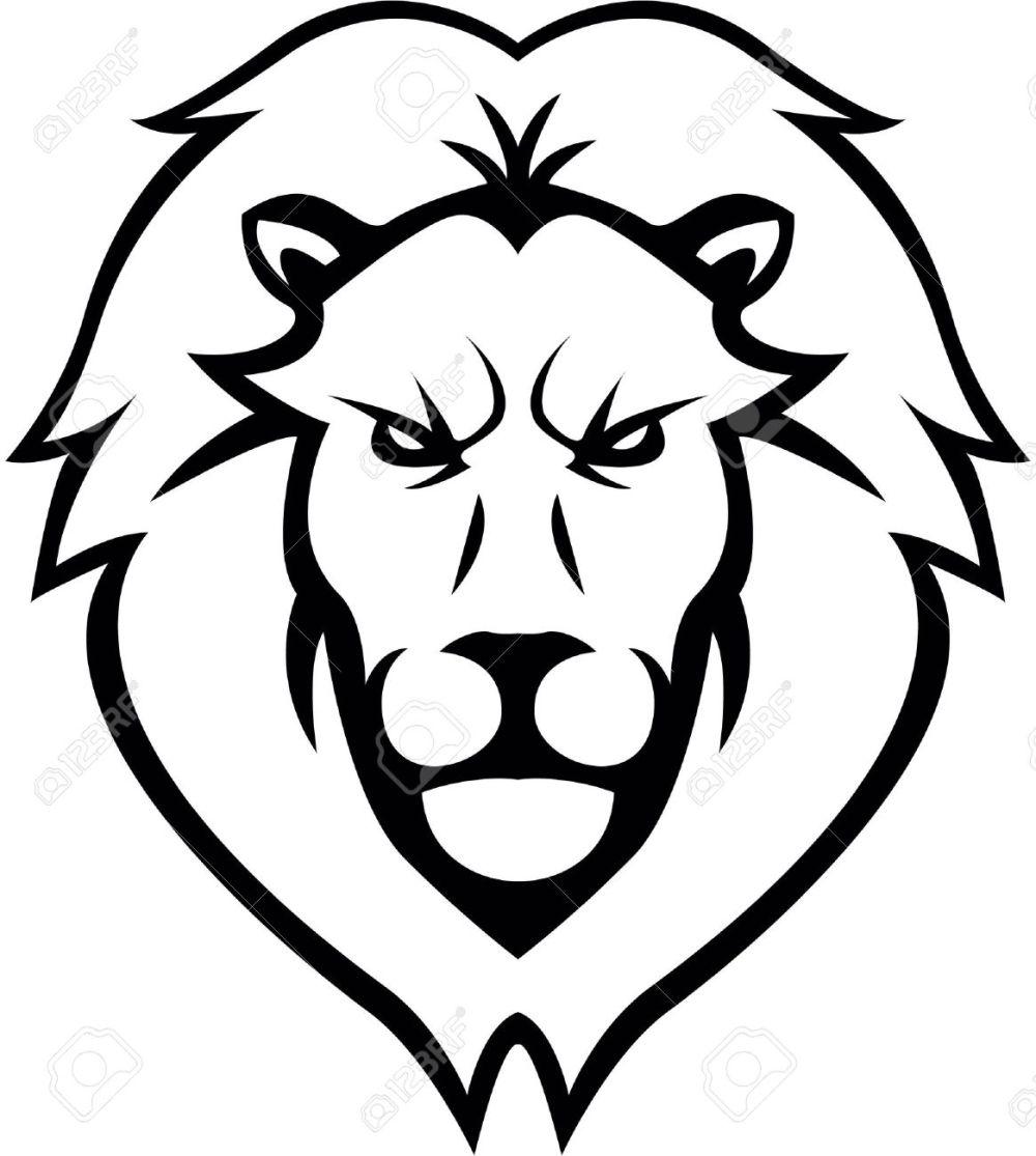 medium resolution of lion head illustration design