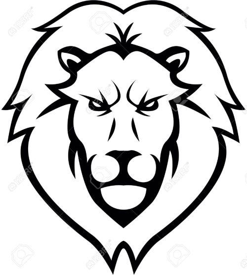 small resolution of lion head illustration design