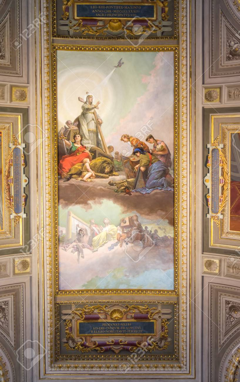 Ceiling In The Vatican Museums Italy