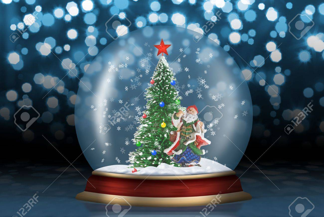 glass sphere christmas scenery