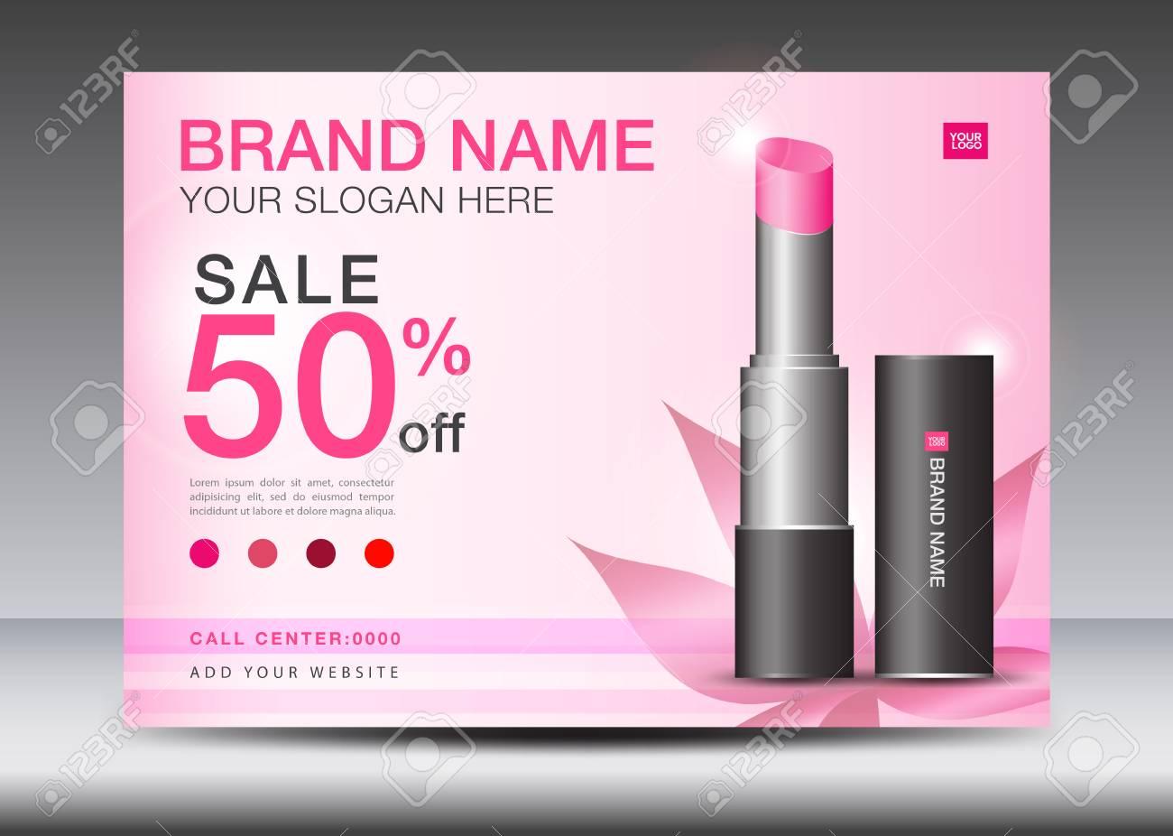 lipstick ads cosmetics banner