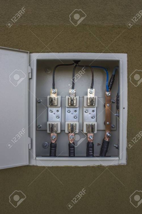 small resolution of stock photo three phase fuse panel without fuses at the entrance of new apartment building