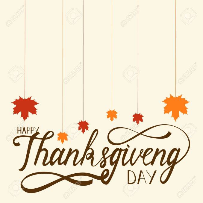 Hand Drawn Thanksgiving Lettering Greeting Phrase Happy Thanksgiving..  Royalty Free Cliparts, Vectors, And Stock Illustration. Image 86917947.