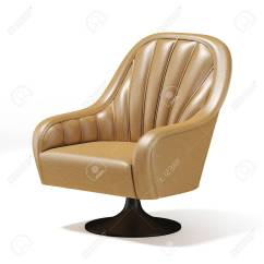 Comfortable Swivel Chair Gaming Xbox One Smyths Soft Covered With Light Leather On Stock A White Background 3d Rendering