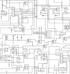 vector seamless electrical circuit diagram pattern royalty free rl series circuit vector diagram circuit diagram vector [ 1300 x 1300 Pixel ]