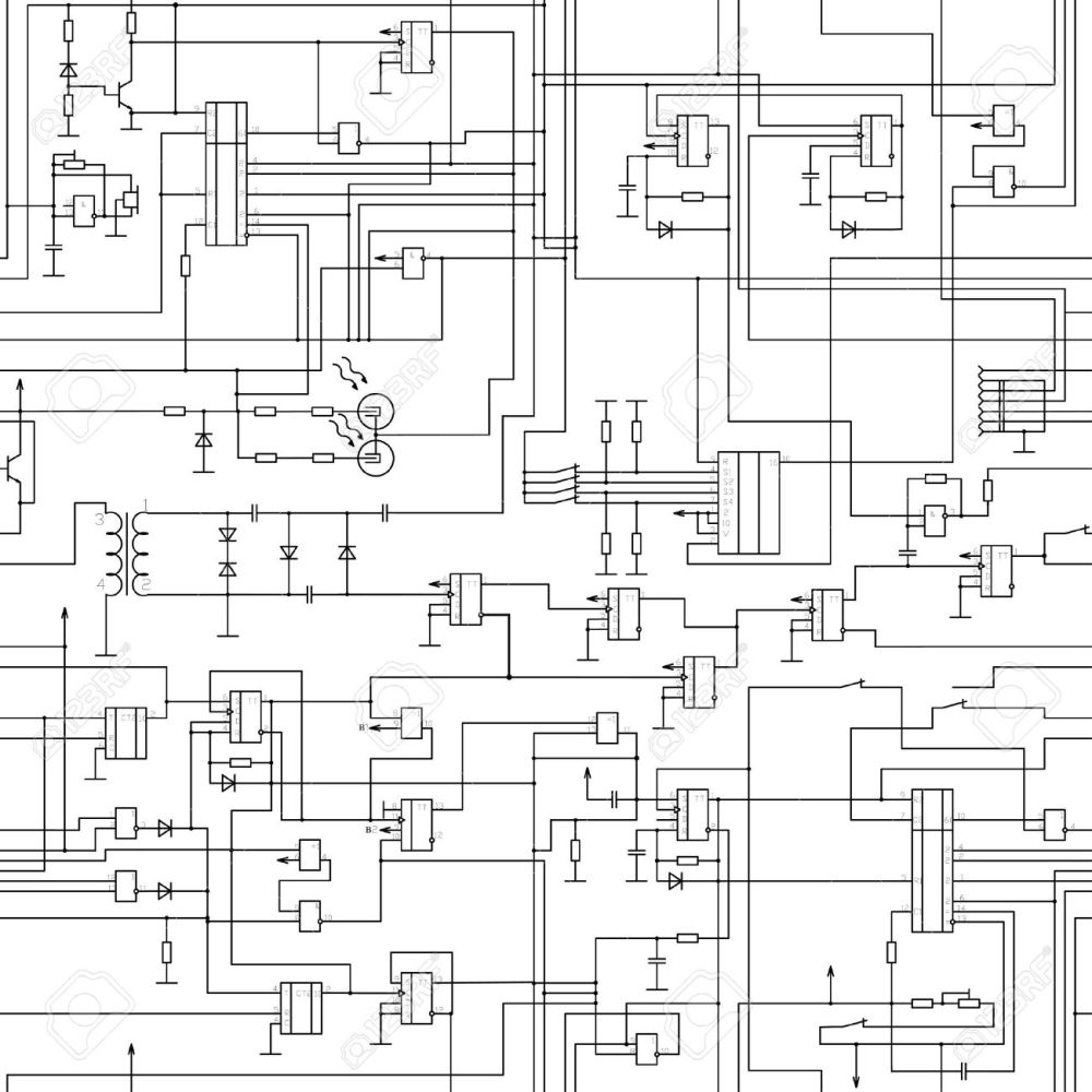medium resolution of vector seamless electrical circuit diagram pattern royalty free rl series circuit vector diagram circuit diagram vector
