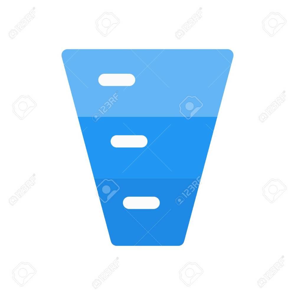 medium resolution of inverted funnel diagram stock vector 86308286
