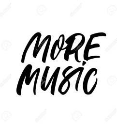 more music handwritten black calligraphy concert musical event party concert ink brush [ 1300 x 1300 Pixel ]