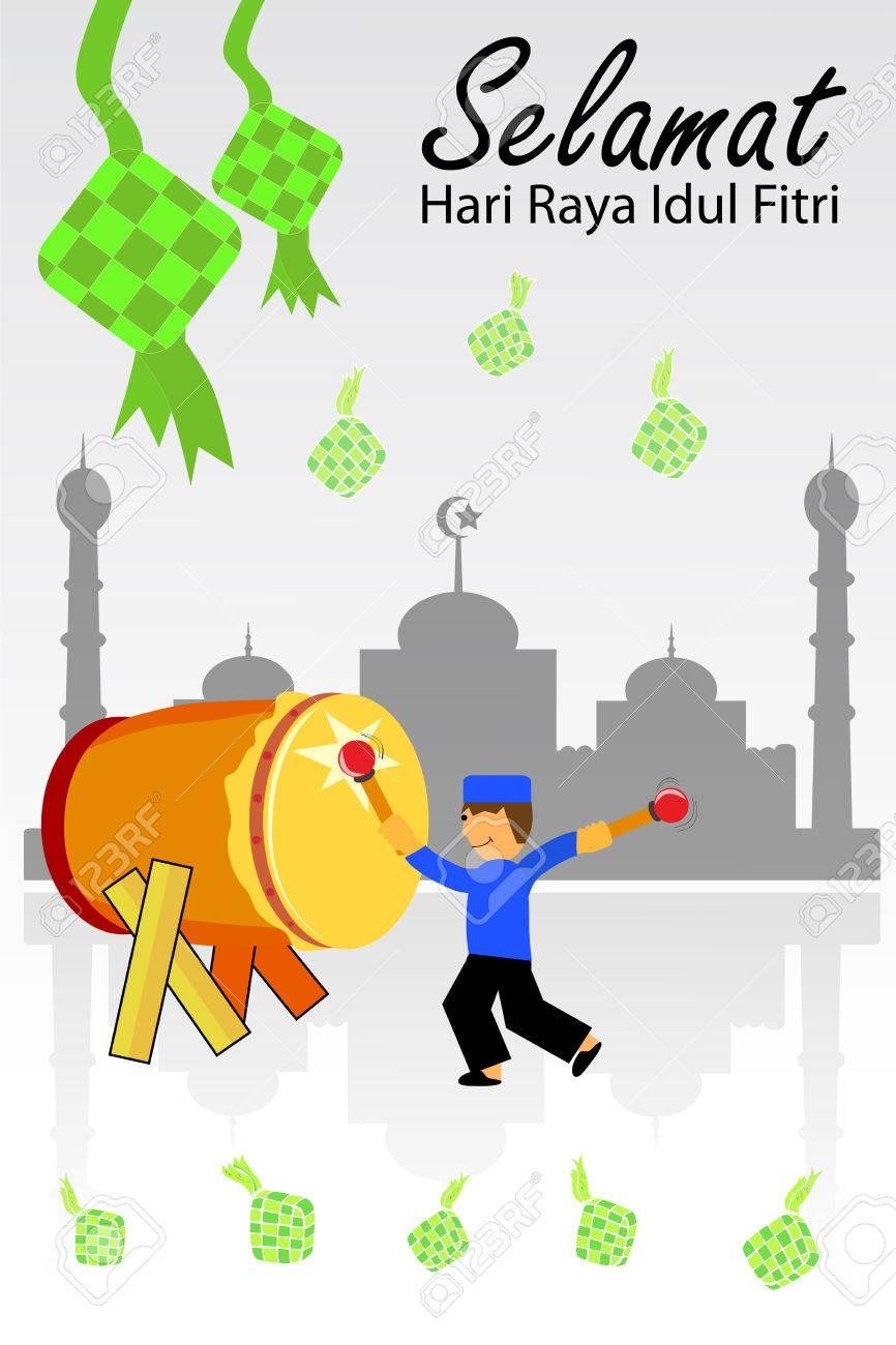 Selamat Idul Fitri Vector : selamat, fitri, vector, Greeting, Ramadhan, Kareem, Royalty, Cliparts,, Vectors,, Stock, Illustration., Image, 40938778.