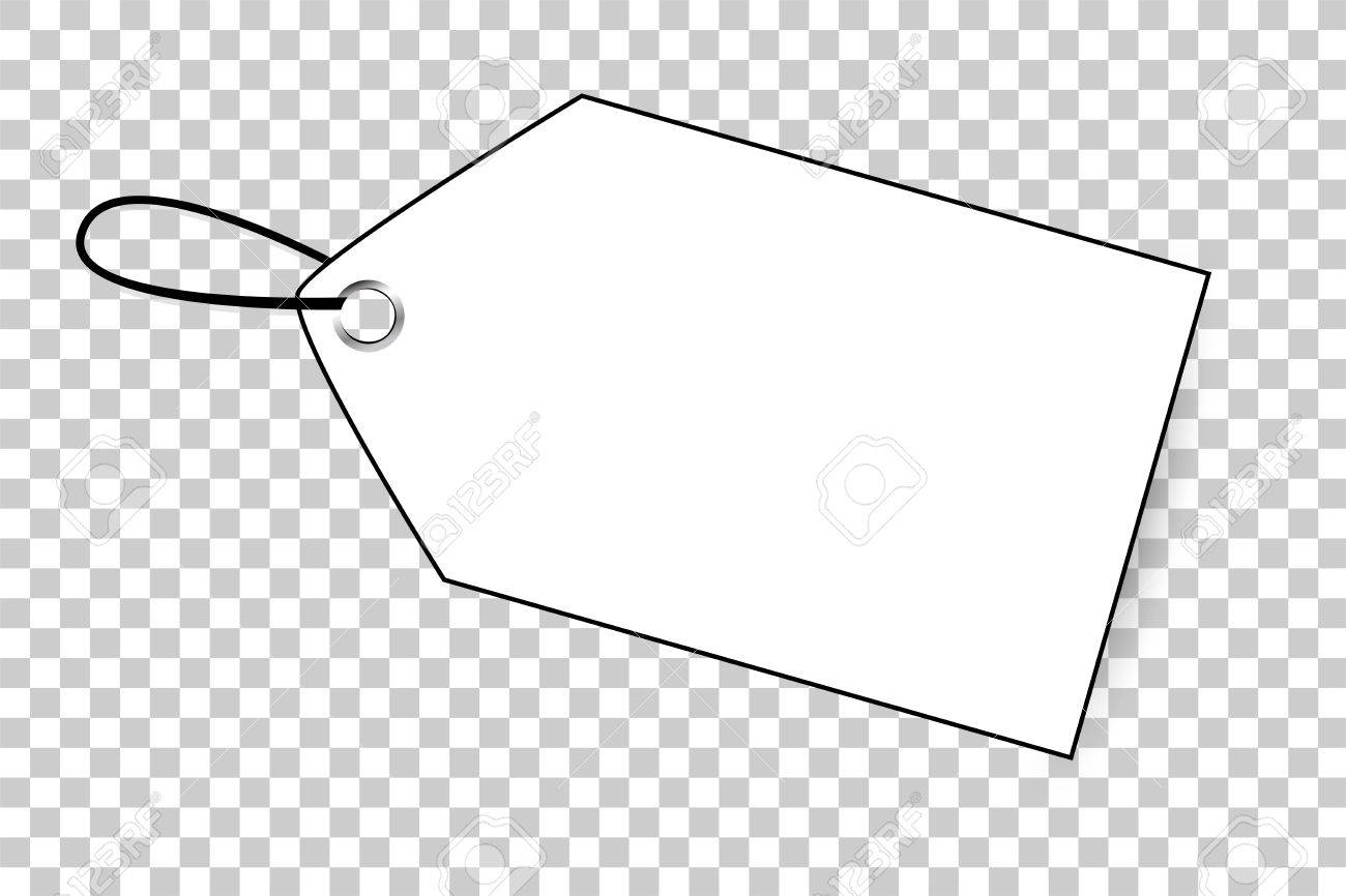 Outline Blank Tag At Transparent Effect Background Stock Photo