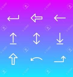 foto de archivo ilustraci n del vector de 9 iconos de la muestra pack editable de turn undo up y otros elementos  [ 1300 x 1300 Pixel ]
